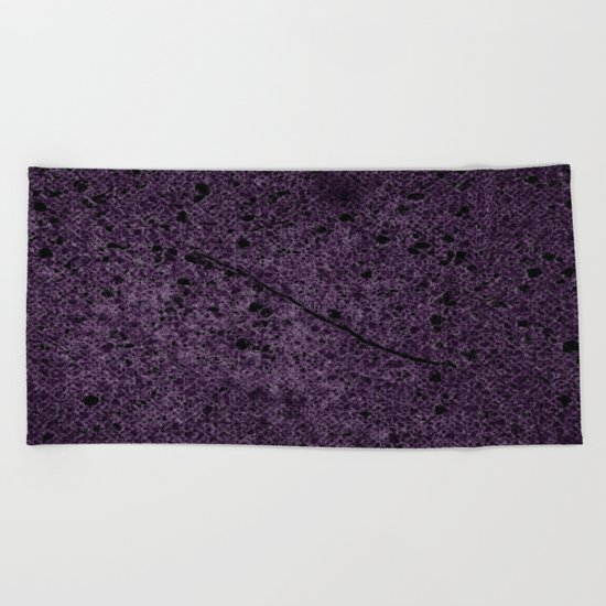 Dark Purple Abstract Beach Towel