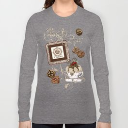 "Vintage Style ""Le Chocolatier"" Chocolate Candy  Long Sleeve T-shirt"