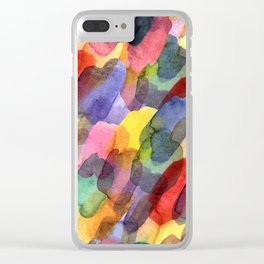 Watercolor brush blots :) Clear iPhone Case