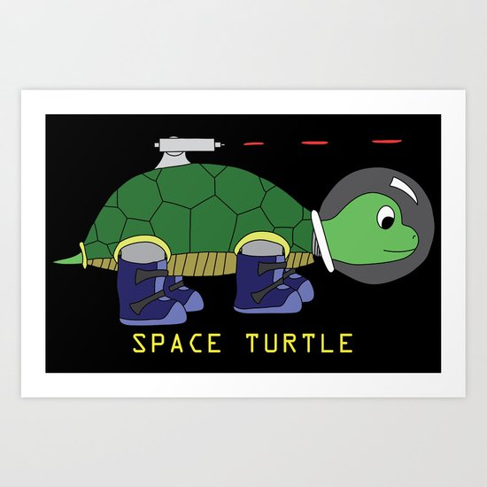 Space Turtle Art Print