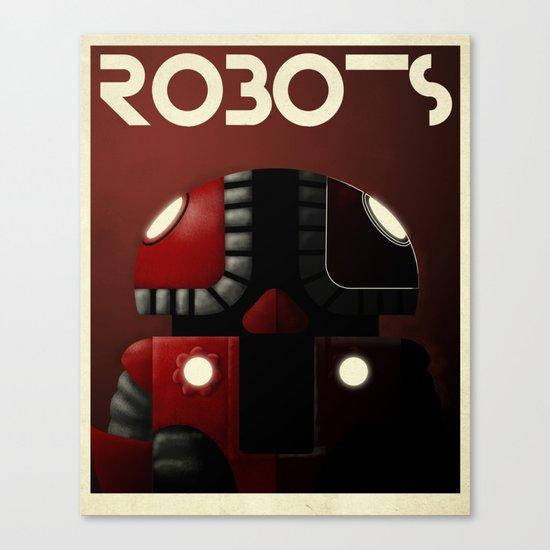 Robots - Bibop Canvas Print