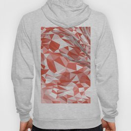Abstract coral white modern geometrical triangles Hoody