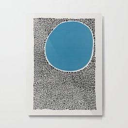 Abstract Blue Lake Metal Print