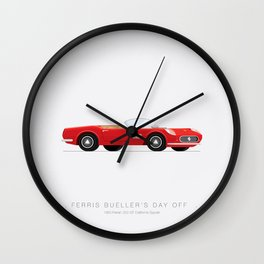 Ferris Bueller's Day Off    Famous Cars Wall Clock