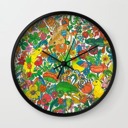 Tiny world Wall Clock