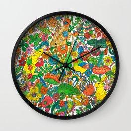 Tiny world Wall Clock