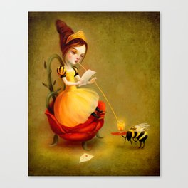 Queen Bee Reads a Love Letter Canvas Print