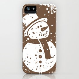 Friendly Snowman iPhone Case