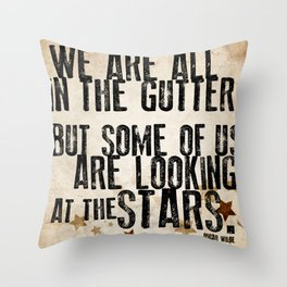 Oscar Wilde: Looking At The Stars Throw Pillow