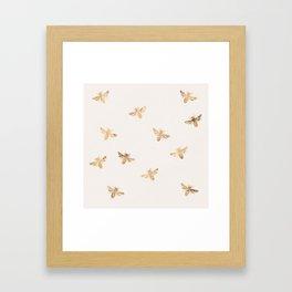Busy Bees (Sand) Framed Art Print