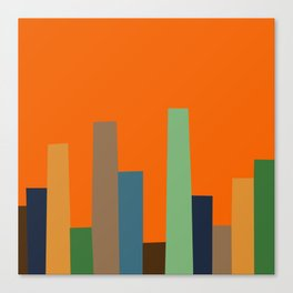 City Perspective-Tangerine Canvas Print