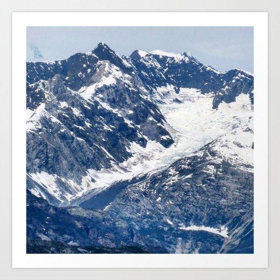 Blue and White Mountain Art Print