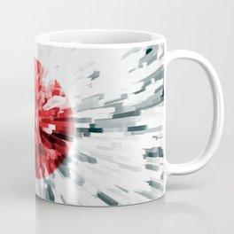 Japanese Flag Extrude Coffee Mug