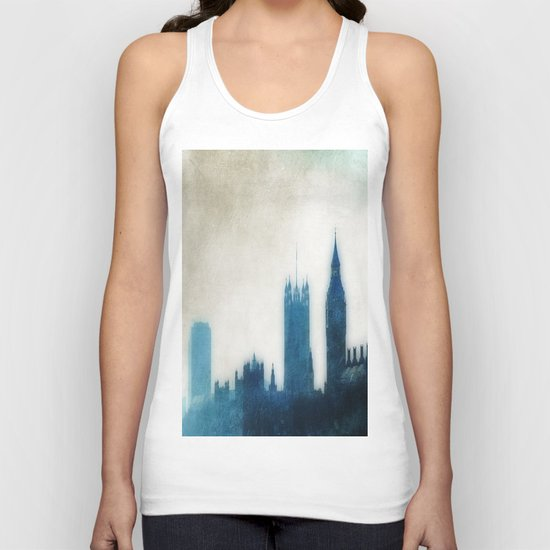 The Many Steepled London Sky Unisex Tank Top