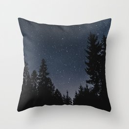 Star Night in the Woods | Nature and Landscape Photography Throw Pillow