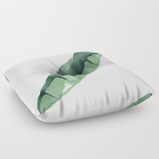 Green Floor Pillows : Banana Leaf Green Floor Pillow by Simple Luxe Society6