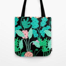 Postmodern Planters in Black Tote Bag