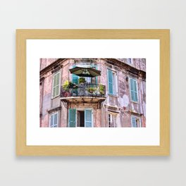 French Quarter Skyscraper Balcony, New Orleans Framed Art Print