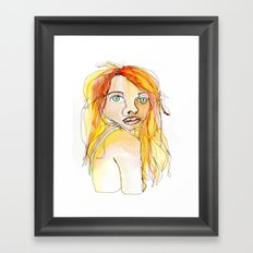 I hate my face. Framed Art Print