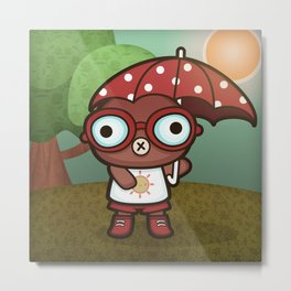 Eveline the Hypochondriac Mole Metal Print