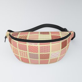 CORAL CRAZY QUILT Fanny Pack