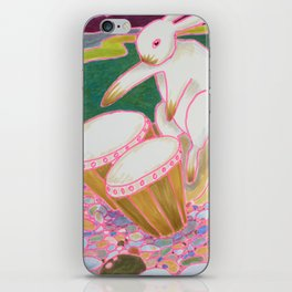 Bongo Bunny on a Pebble Beach iPhone Skin