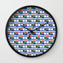 Mix of flag: Israel and south africa Wall Clock