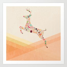Christmas reindeer 5 Art Print