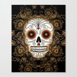 Vintage Sugar Skull Canvas Print