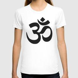 Minimal Black & White Om Symbol T-shirt