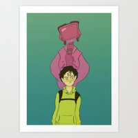 flcl Art Prints featuring FLCL by tinyenemies
