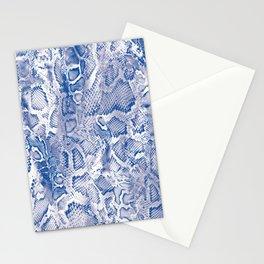 Blue Snakeskin  Stationery Cards