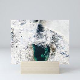 Sediment Transforms Lake Michigan Mini Art Print