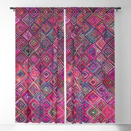 N46 - Arteresting Colored Traditional Boho Moroccan Artwork. Blackout Curtain