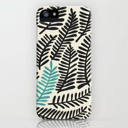 Black Fronds iPhone Case