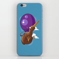 houston iPhone & iPod Skins featuring Houston, We Have Kiwi by Artistic Dyslexia
