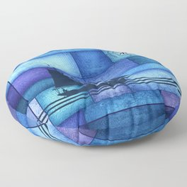 Patchwork Maritime Floor Pillow