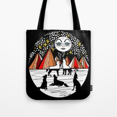 full wolf moon Tote Bag