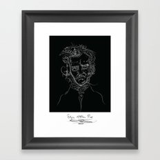edgarBlack Framed Art Print
