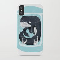 the whale iPhone & iPod Cases featuring Whale by Rodrigo Fortes