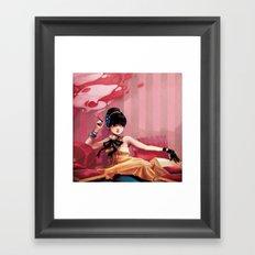 Le salon rose Framed Art Print