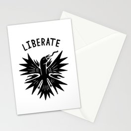 phoenix liberate crest x typography Stationery Cards