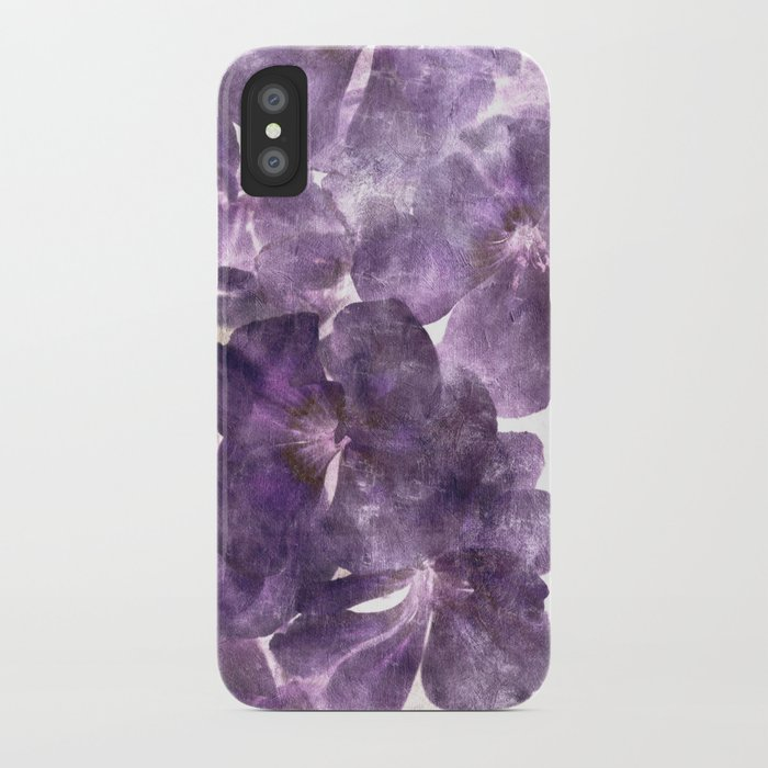 Purple Blossoming iPhone Case