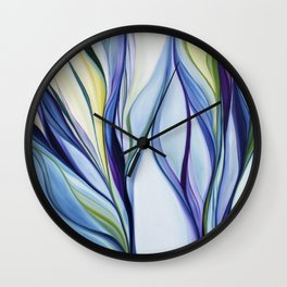 organic abstract Wall Clock
