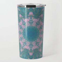 Navajo Turquoise Gemstone Mandala No. 40 Travel Mug