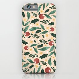 Holly Pattern iPhone Case