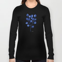 Silver Dollar Eucalyptus – Navy Long Sleeve T-shirt