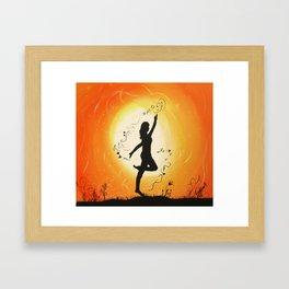 Dance before the light Framed Art Print