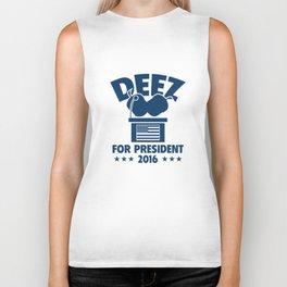 Deez Nuts For President Biker Tank