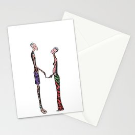Kollie and Zoe ( african lover ) Stationery Cards